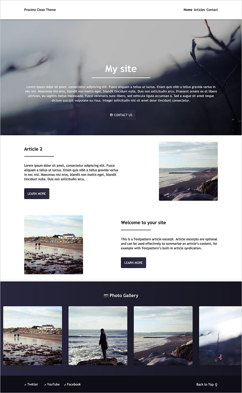 Proximo Clean Theme - Homepage